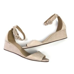 J.Crew Laila Suede Wedge Sandals 7.5 #A35